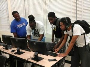 William Jackson teaching students at EWC